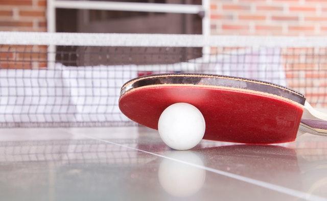 Raquette et filet ping pong